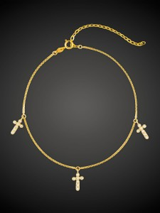 Gold Bracelet Mini Cross