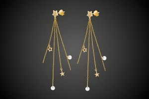 N°2 Gold Earrings Stars & Crystals