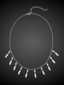 Srebrny Choker Dream Catcher