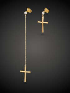 Gold Earrings Saint