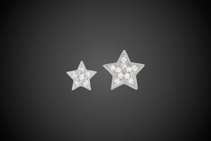 Silver Earrings Twin Stars