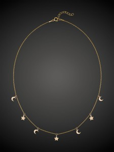 Gold Necklace Night Sky