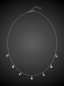 Silver Necklace Night Sky