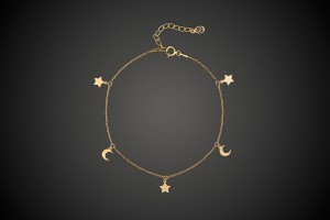 Gold Bracelet Night Sky