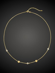 Gold Necklace Loop