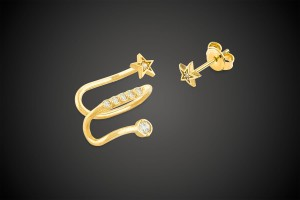 Gold Earring BOA Star