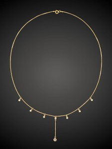 Gold Necklace Dot & Loop