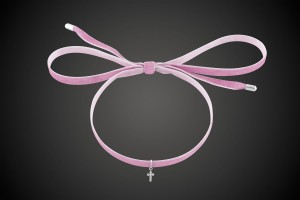 Pink Choker Cross