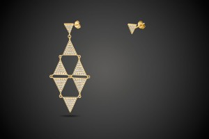 Gold Earring Prism