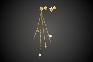 N°1 Gold Earrings Stars & Crystals