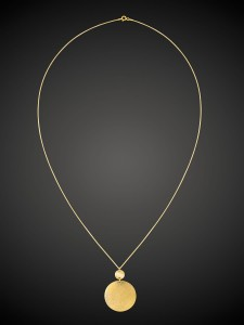 Gold Necklace Full Moon