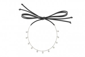 Srebrny Choker Star Neck