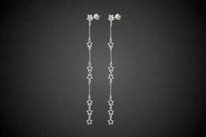N°2 Silver Earrings Star Mania