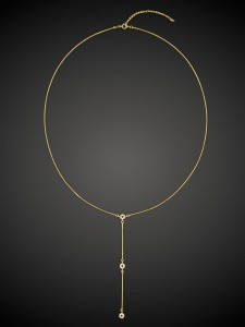 Gold Necklace Long Loop