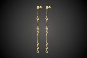 N°2 Gold Earrings Star Mania