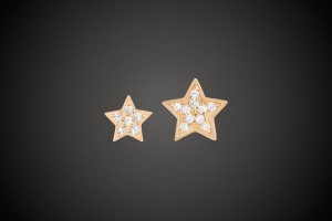 Gold Earrings Twin Stars