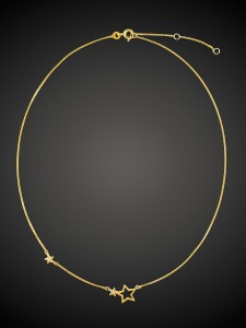 Gold Necklace Double Star
