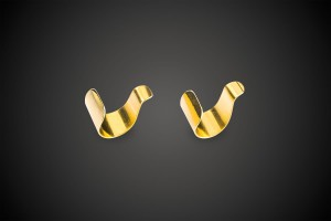 Gold Earring Simple Cuff