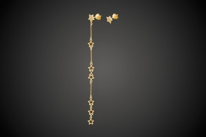 N°1 Gold Earrings Star Mania