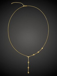 Gold Necklace Heart Tie