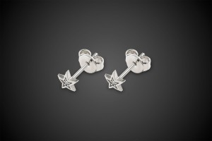 Silver Earrings All Stars