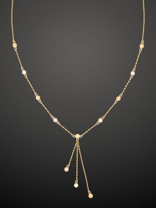Gold Necklace Trio Dot