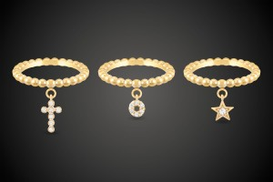 Gold Ring Cross/Loop/Star